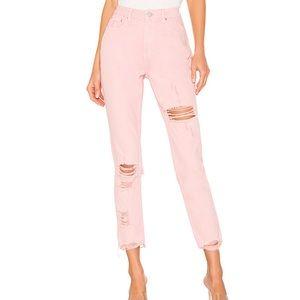 NEW Superdown X REVOLVE Fara Distressed Pink Jeans